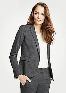Ann Taylor Petite Crosshatch One Button Blazer
