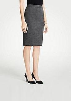 Ann Taylor Petite Crosshatch Pencil Skirt
