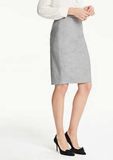 Ann Taylor Petite Crosshatch Pencil Skirt