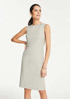 Ann Taylor Petite Crosshatch Sheath Dress