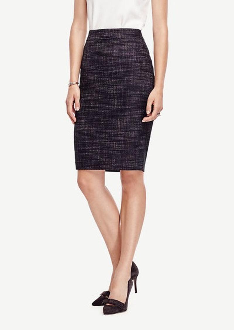 Ann Taylor Petite Crosshatch Tweed Pencil Skirt