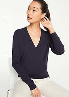 Ann Taylor Petite Crossover Sweater