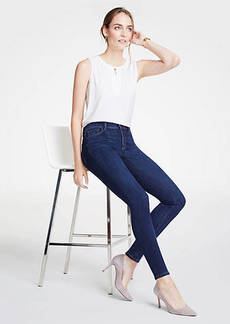 Ann Taylor Petite Curvy All Day Skinny Jeans In Mid Indigo Wash