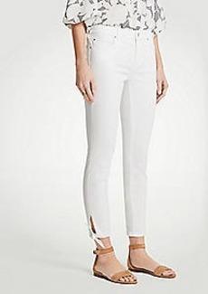Ann Taylor Petite Curvy Ankle Tie Skinny Crop Jeans