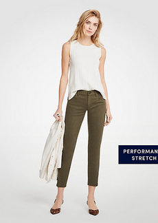 Ann Taylor Petite Curvy Ankle Zip All Day Skinny Crop Jeans