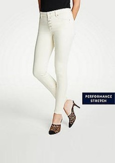 Ann Taylor Petite Curvy Button Fly All Day Skinny Jeans