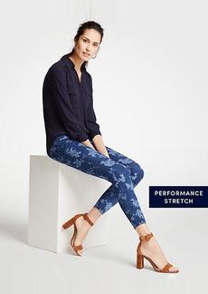 Ann Taylor Petite Curvy Island Floral Skinny Crop Jeans