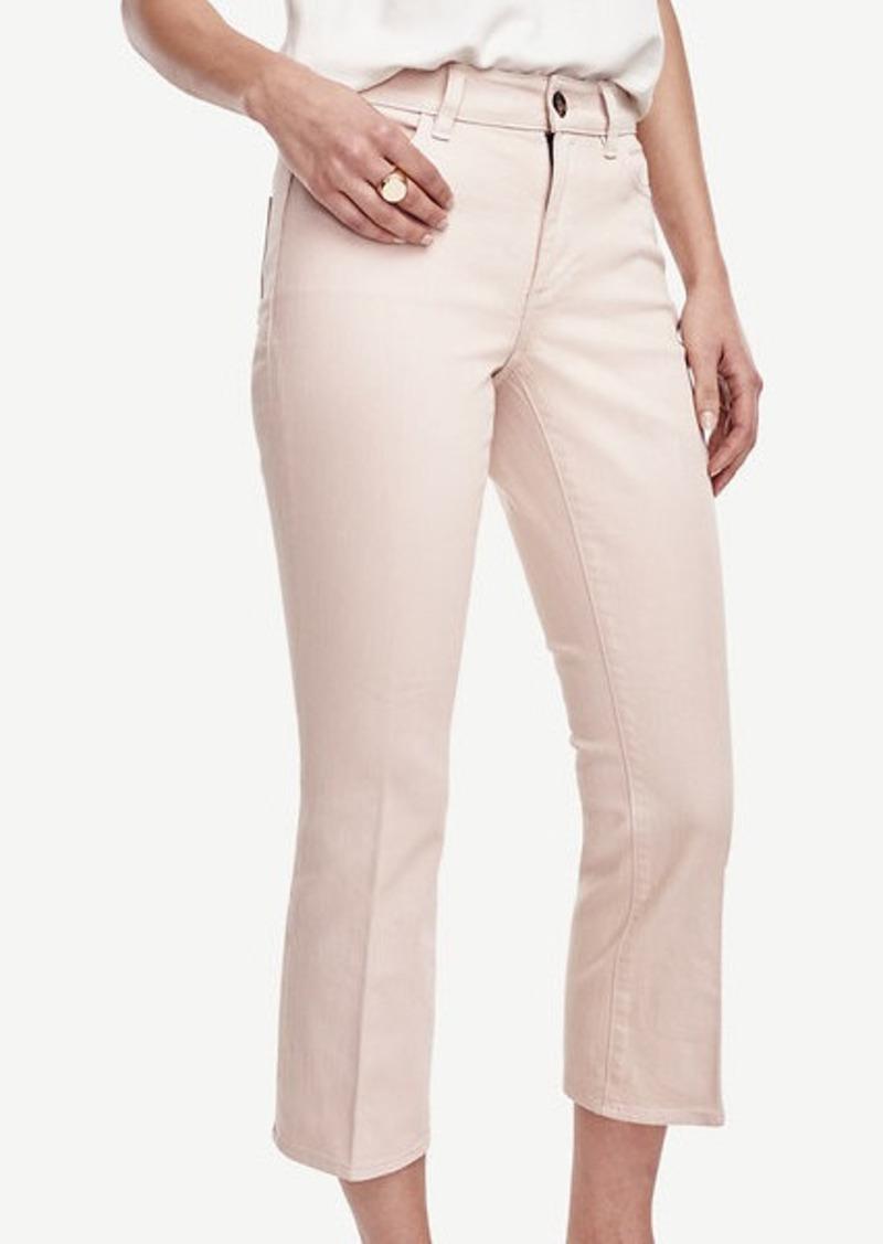Ann Taylor Petite Curvy Kick Crop Jeans