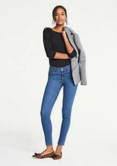 Ann Taylor Petite Curvy Performance Stretch Skinny Jeans In Classic Blue Wash