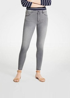 Ann Taylor Petite Curvy Skinny Jeans In Mid Grey Wash