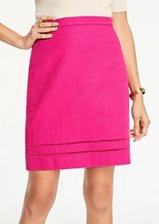 Ann Taylor Petite Cutout A-Line Skirt
