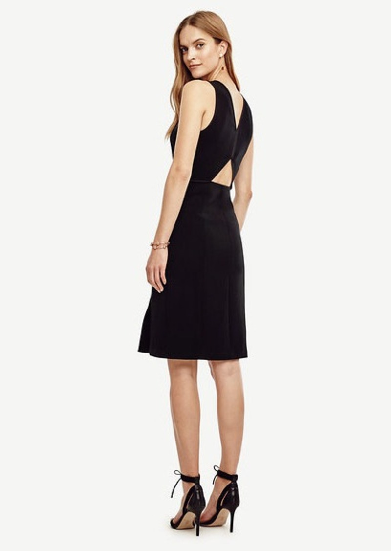 Ann Taylor Petite Cutout Back Sheath Dress
