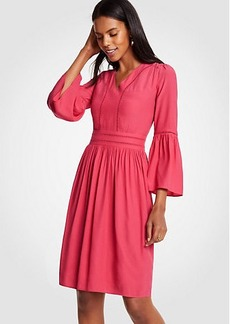Ann Taylor Petite Cutout Flare Sleeve Dress