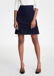 Ann Taylor Petite Denim Flare Skirt