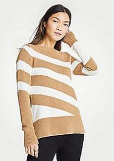 Ann Taylor Petite Diagonal Stripe Sweater