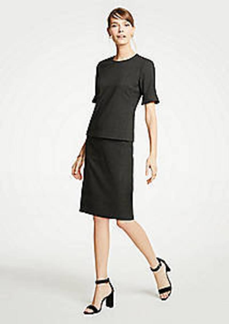 Ann Taylor Petite Dobby Pencil Skirt