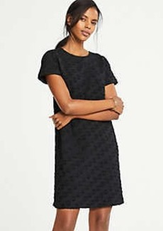 Ann Taylor Petite Dot Jacquard T-Shirt Dress