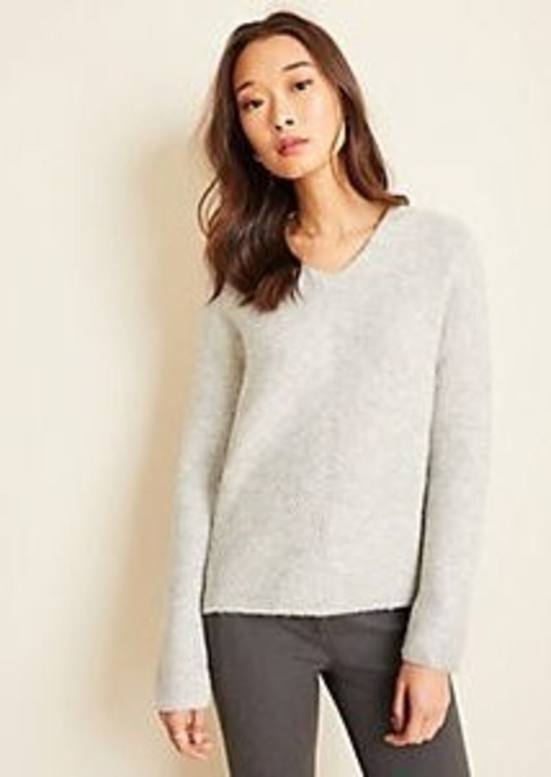 Ann Taylor Petite Double V Ribbed Sweater