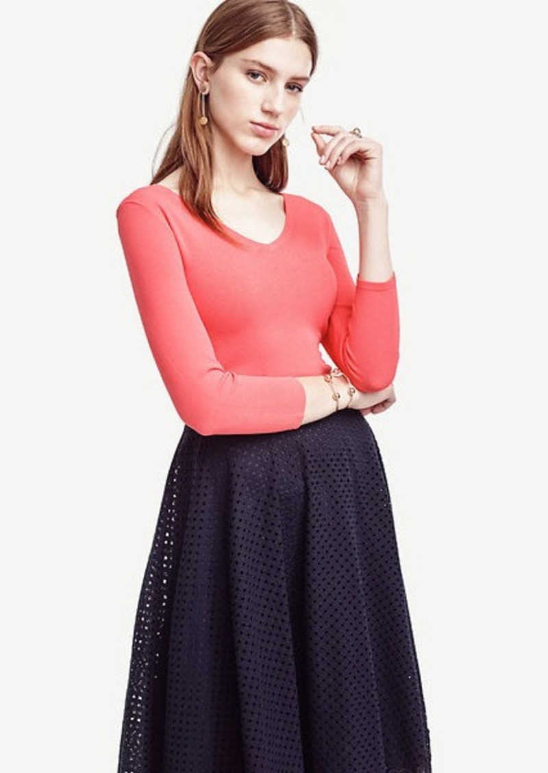 Ann Taylor Petite Double V Sweater