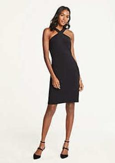 Ann Taylor Petite Doubleweave Halter Dress