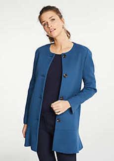 Ann Taylor Petite Doubleweave Long Peplum Jacket
