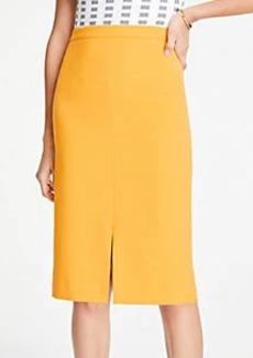 Ann Taylor Petite Doubleweave Pencil Skirt