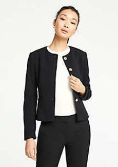 Ann Taylor Petite Double Cloth Peplum Jacket