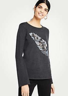 Ann Taylor Petite Embellished Feather Sweater