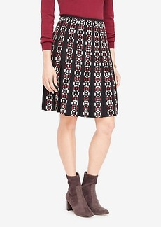 Ann Taylor Petite Embroidered Pleated Skirt
