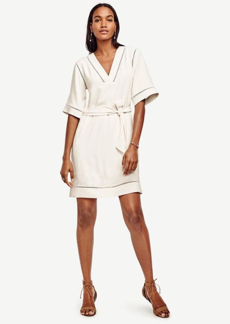 Ann Taylor Petite Etched Hem Kimono Dress