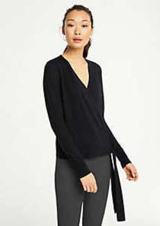 Ann Taylor Petite Extrafine Merino Wool Wrap Sweater