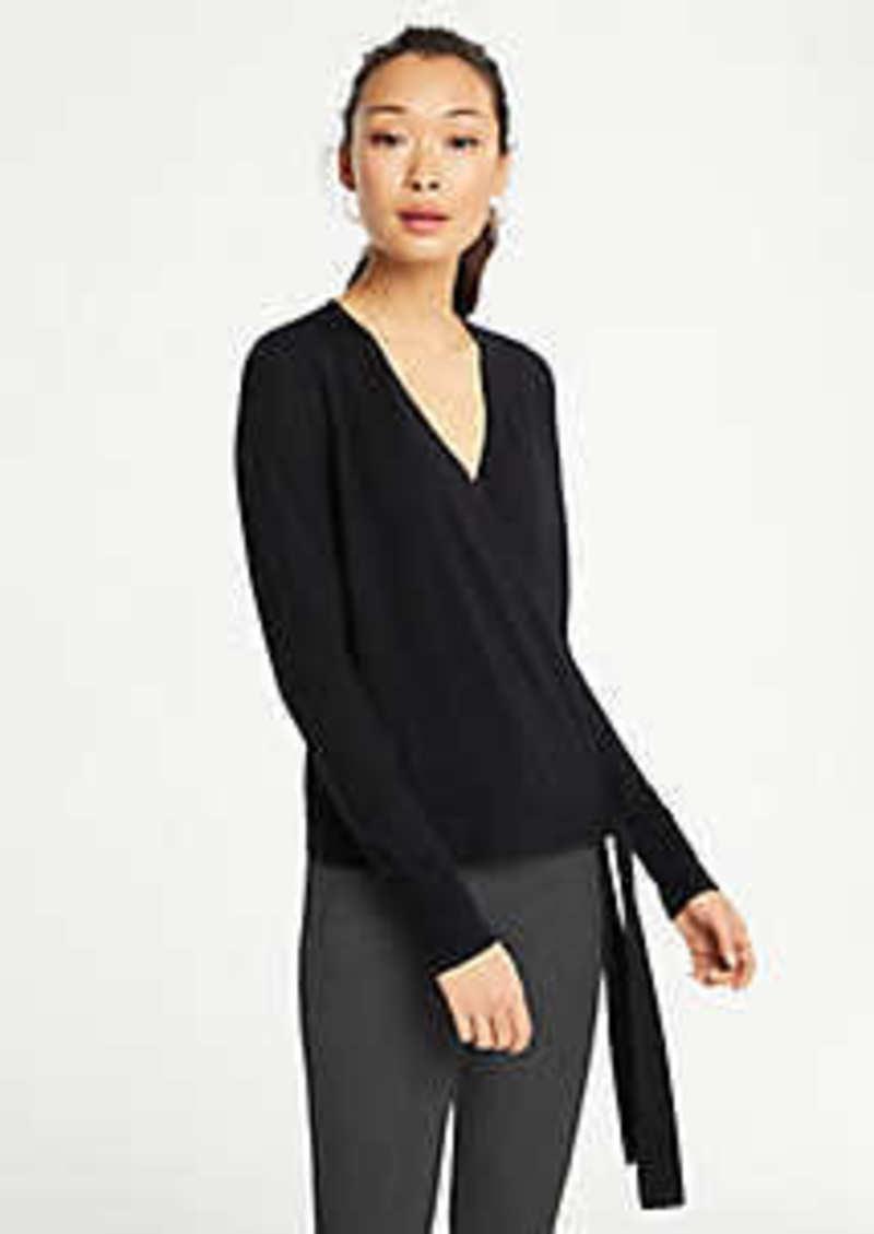 Ann Taylor Petite Extrafine Merino Wool Wrap Sweater