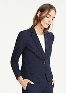 Ann Taylor The Petite Newbury Blazer in Eyelet