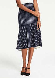 Ann Taylor Petite Eyelet Flounce Midi Skirt