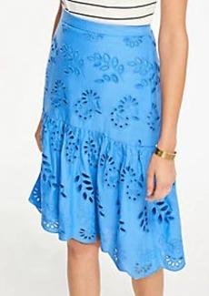 Ann Taylor Petite Eyelet Flounce Skirt