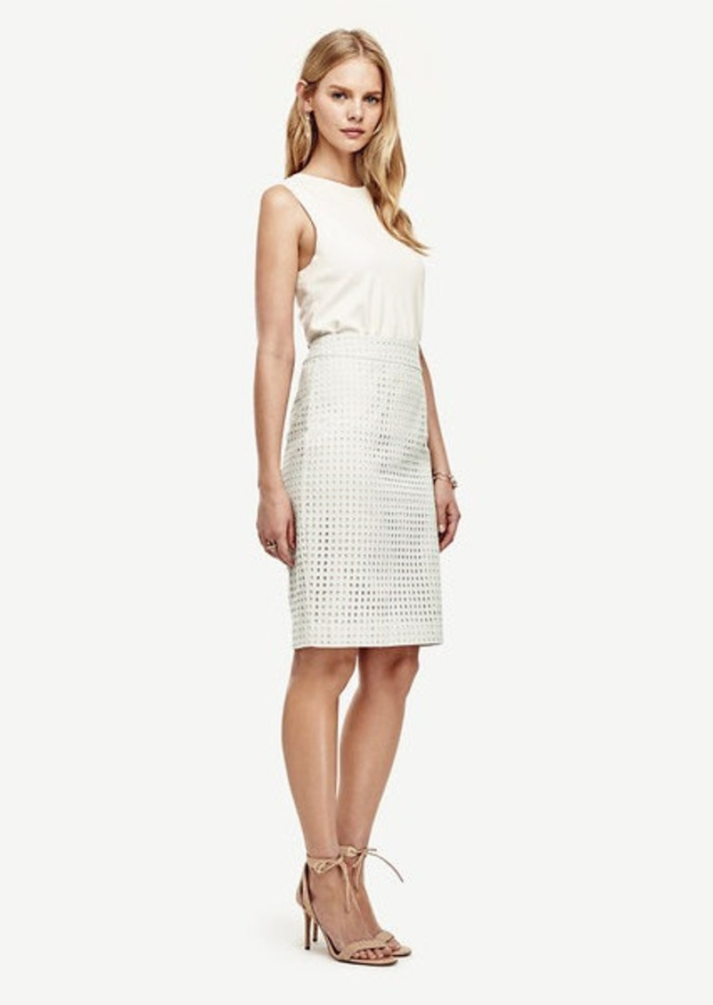 Ann Taylor Petite Eyelet Pencil Skirt