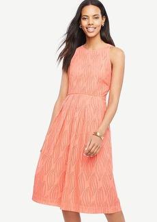 Petite Eyelet Swirl Midi Dress
