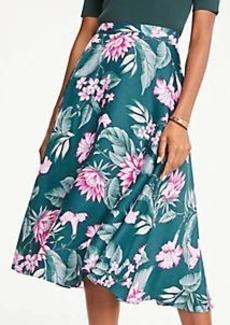 Ann Taylor Petite Fauna Floral Midi Skirt