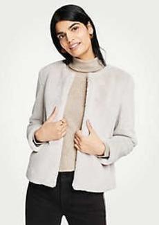 Ann Taylor Petite Faux Fur Jacket