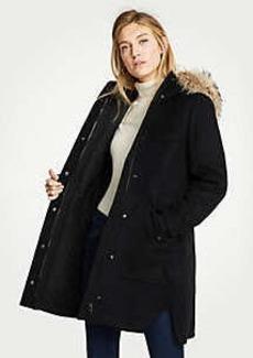 Ann Taylor Petite Faux Fur Parka