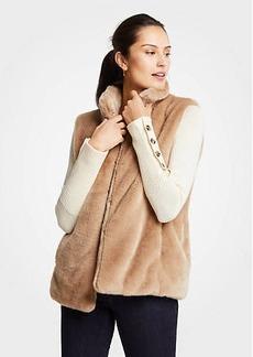 Ann Taylor Petite Faux Fur Vest
