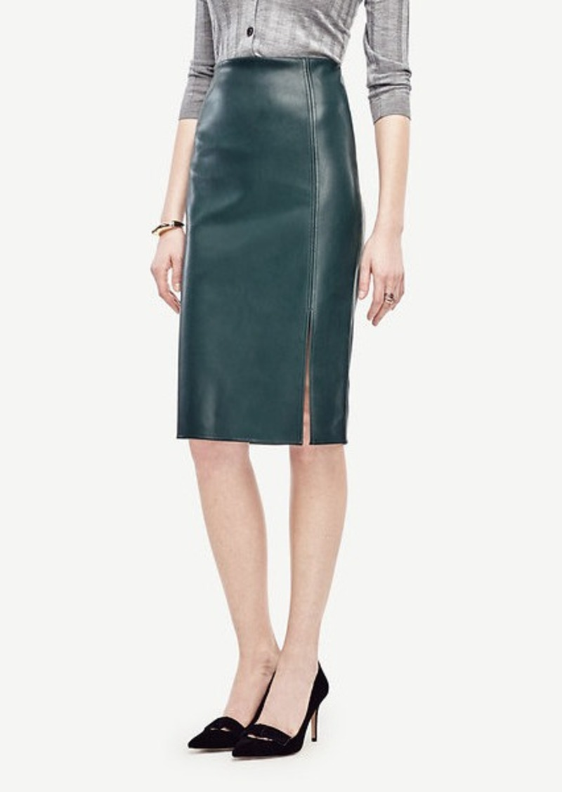 Ann Taylor Petite Faux Leather Pencil Skirt | Skirts - Shop It To Me