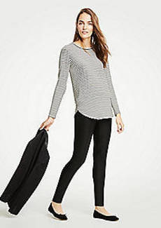 Ann Taylor Petite Faux Leather Ponte Leggings