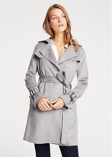 Ann Taylor Petite Faux Suede Trench Coat