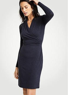 Petite Faux Wrap Knit Dress