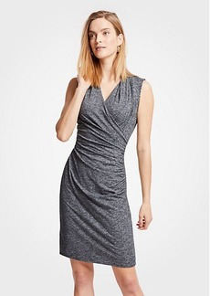 Ann Taylor Petite Faux Wrap Knit Dress