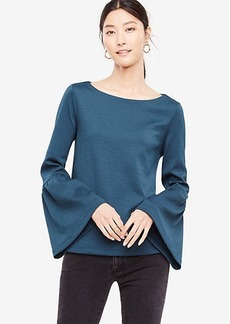 Ann Taylor Petite Flare Sleeve Knit Top