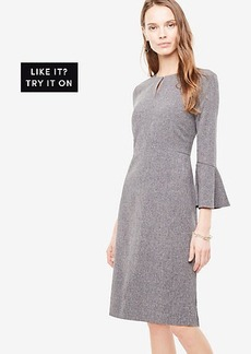 Petite Flare Sleeve Sheath Dress