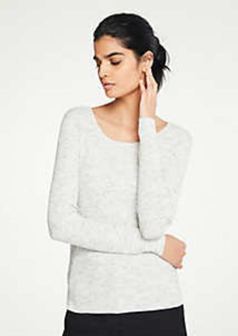 Ann Taylor Petite Flecked Ribbed Sweater