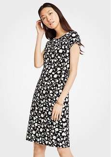 Ann Taylor Petite Floral Boatneck Sheath Dress